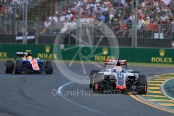 World © Octane Photographic Ltd. Haas F1 Team VF-16 – Romain Grosjean. Sunday 20th March 2016, F1 Australian GP Race, Melbourne, Albert Park, Australia. Digital Ref : 1524LB1D7067