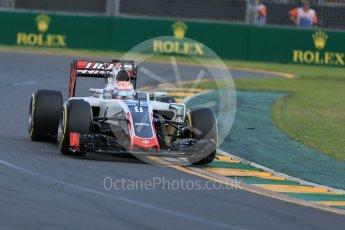 World © Octane Photographic Ltd. Haas F1 Team VF-16 – Romain Grosjean. Sunday 20th March 2016, F1 Australian GP Race, Melbourne, Albert Park, Australia. Digital Ref : 1524LB1D7194