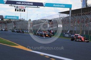 World © Octane Photographic Ltd. Scuderia Ferrari SF16-H – Kimi Raikkonen. Sunday 20th March 2016, F1 Australian GP Race, Melbourne, Albert Park, Australia. Digital Ref : 1524LB1D7358
