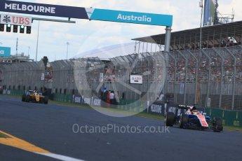 World © Octane Photographic Ltd. Manor Racing MRT05 - Pascal Wehrlein. Sunday 20th March 2016, F1 Australian GP Race, Melbourne, Albert Park, Australia. Digital Ref : 1524LB1D7417