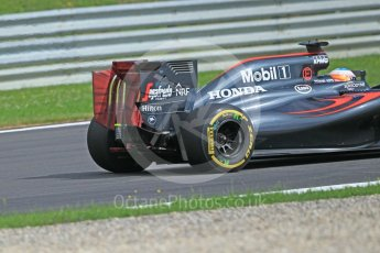 World © Octane Photographic Ltd. McLaren Honda MP4-31 (with new rear wing) – Fernando Alonso. Friday 1st July 2016, F1 Austrian GP Practice 1, Red Bull Ring, Spielberg, Austria. Digital Ref : 1598CB1D1933