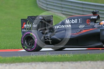 World © Octane Photographic Ltd. McLaren Honda MP4-31 (with new rear wing) – Fernando Alonso. Friday 1st July 2016, F1 Austrian GP Practice 1, Red Bull Ring, Spielberg, Austria. Digital Ref : 1598CB1D1984