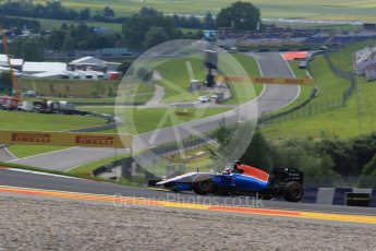 World © Octane Photographic Ltd. Manor Racing MRT05 - Pascal Wehrlein. Friday 1st July 2016, F1 Austrian GP Practice 1, Red Bull Ring, Spielberg, Austria. Digital Ref : 1598LB1D5038