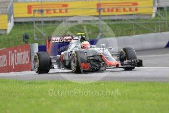 World © Octane Photographic Ltd. Haas F1 Team VF-16 - Esteban Gutierrez. Friday 1st July 2016, F1 Austrian GP Practice 2, Red Bull Ring, Spielberg, Austria. Digital Ref : 1600CB1D2346
