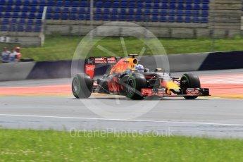 World © Octane Photographic Ltd. Red Bull Racing RB12 – Daniel Ricciardo. Friday 1st July 2016, F1 Austrian GP Practice 2, Red Bull Ring, Spielberg, Austria. Digital Ref : 1600CB1D2521