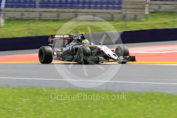World © Octane Photographic Ltd. Sahara Force India VJM09 - Sergio Perez. Friday 1st July 2016, F1 Austrian GP Practice 2, Red Bull Ring, Spielberg, Austria. Digital Ref : 1600CB1D2648