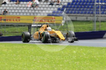 World © Octane Photographic Ltd. Renault Sport F1 Team RS16 - Kevin Magnussen. Friday 1st July 2016, F1 Austrian GP Practice 2, Red Bull Ring, Spielberg, Austria. Digital Ref : 1600CB1D2679