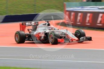 World © Octane Photographic Ltd. Haas F1 Team VF-16 – Romain Grosjean. Friday 1st July 2016, F1 Austrian GP Practice 2, Red Bull Ring, Spielberg, Austria. Digital Ref : 1600CB1D2725