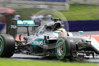 World © Octane Photographic Ltd. Mercedes AMG Petronas W07 Hybrid – Lewis Hamilton. Friday 1st July 2016, F1 Austrian GP Practice 2, Red Bull Ring, Spielberg, Austria. Digital Ref : 1600CB1D2752
