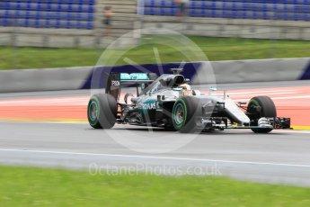 World © Octane Photographic Ltd. Mercedes AMG Petronas W07 Hybrid – Lewis Hamilton. Friday 1st July 2016, F1 Austrian GP Practice 2, Red Bull Ring, Spielberg, Austria. Digital Ref : 1600CB1D2780