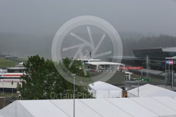 World © Octane Photographic Ltd. Rain falling during the session. Friday 1st July 2016, F1 Austrian GP Practice 2, Red Bull Ring, Spielberg, Austria. Digital Ref : 1600CB5D3154