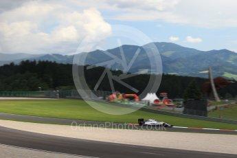 World © Octane Photographic Ltd. Williams Martini Racing, Williams Mercedes FW38 – Valtteri Bottas. Friday 1st July 2016, F1 Austrian GP Practice 2, Red Bull Ring, Spielberg, Austria. Digital Ref : 1600LB1D5493