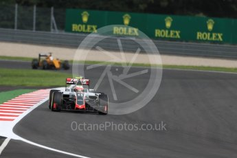 World © Octane Photographic Ltd. Haas F1 Team VF-16 - Esteban Gutierrez and Renault Sport F1 Team RS16 - Kevin Magnussen. Friday 1st July 2016, F1 Austrian GP Practice 2, Red Bull Ring, Spielberg, Austria. Digital Ref : 1600LB1D6251