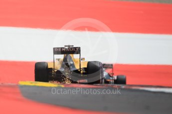 World © Octane Photographic Ltd. Renault Sport F1 Team RS16 – Jolyon Palmer. Saturday 2nd July 2016, F1 Austrian GP Qualifying, Red Bull Ring, Spielberg, Austria. Digital Ref :