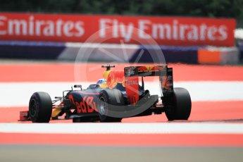 World © Octane Photographic Ltd. Red Bull Racing RB12 – Daniel Ricciardo. Saturday 2nd July 2016, F1 Austrian GP Qualifying, Red Bull Ring, Spielberg, Austria. Digital Ref :