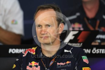 World © Octane Photographic Ltd. F1 Austrian GP FIA Personnel Press Conference, Red Bull Ring, Spielberg, Austria. Friday 1st July 2016. Paul Monaghan – Red Bull Racing Chief Engineer (Car Engineering). Digital Ref :1602LB1D6732