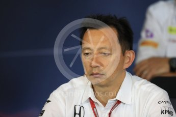 World © Octane Photographic Ltd. F1 Austrian GP FIA Personnel Press Conference, Red Bull Ring, Spielberg, Austria. Friday 1st July 2016. Yusuke Hasegawa – Honda Head of Formula 1Project. Digital Ref :1602LB1D6765