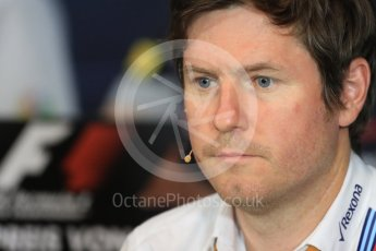 World © Octane Photographic Ltd. F1 Austrian GP FIA Personnel Press Conference, Red Bull Ring, Spielberg, Austria. Friday 1st July 2016. Rob Smedley - Williams Martini Racing Head of Vehicle Performance. Digital Ref :1602LB1D6817