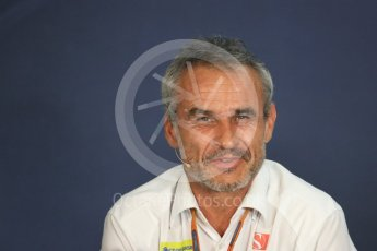 World © Octane Photographic Ltd. F1 Austrian GP FIA Personnel Press Conference, Red Bull Ring, Spielberg, Austria. Friday 1st July 2016. Beat Zehnder – Sauber F1 Team, Team Manager. Digital Ref :1602LB1D6844