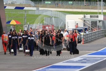 World © Octane Photographic Ltd. The teams enter the pitlane to set up. Friday 1st July 2016, GP3 Practice, Red Bull Ring, Spielberg, Austria. Digital Ref : 1603LB1D5687