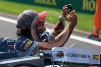 World © Octane Photographic Ltd. Scuderia Toro Rosso STR11 – Carlos Sainz. Sunday 28th August 2016, F1 Belgian GP Driver Parade, Spa-Francorchamps, Belgium. Digital Ref : 1691LB1D2148