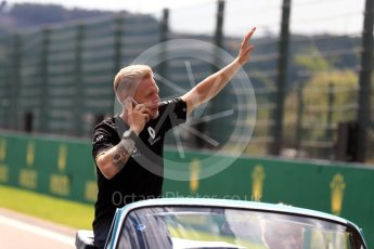 World © Octane Photographic Ltd. Renault Sport F1 Team RS16 - Kevin Magnussen. Sunday 28th August 2016, F1 Belgian GP Driver Parade, Spa-Francorchamps, Belgium. Digital Ref : 1691LB1D2199