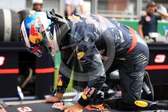 World © Octane Photographic Ltd. Red Bull Racing RB12 – Daniel Ricciardo. Sunday 28th August 2016, F1 Belgian GP Grid, Spa-Francorchamps, Belgium. Digital Ref : 1691LB1D2293