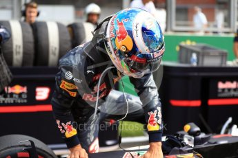 World © Octane Photographic Ltd. Red Bull Racing RB12 – Daniel Ricciardo. Sunday 28th August 2016, F1 Belgian GP Grid, Spa-Francorchamps, Belgium. Digital Ref : 1691LB1D2301