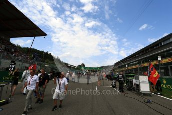 World © Octane Photographic Ltd. Sunday 28th August 2016, F1 Belgian GP Grid, Spa-Francorchamps, Belgium. Digital Ref :