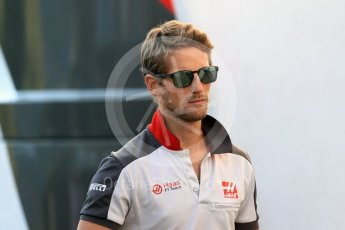 World © Octane Photographic Ltd. Haas F1 Team – Romain Grosjean. Friday 26th August 2016, F1 Belgian GP Paddock, Spa-Francorchamps, Belgium. Digital Ref : 1679LB1D6153