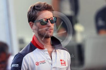 World © Octane Photographic Ltd. Haas F1 Team – Romain Grosjean. Friday 26th August 2016, F1 Belgian GP Paddock, Spa-Francorchamps, Belgium. Digital Ref : 1679LB1D6159