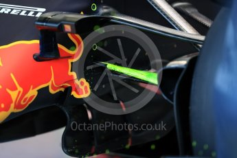 World © Octane Photographic Ltd. Red Bull Racing - aero flow paint. Saturday 27th August 2016, F1 Belgian GP Practice 3, Spa-Francorchamps, Belgium. Digital Ref : 1687LB1D9293