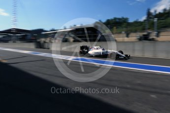 World © Octane Photographic Ltd. Williams Martini Racing, Williams Mercedes FW38 – Valtteri Bottas. Saturday 27th August 2016, F1 Belgian GP Practice 3, Spa-Francorchamps, Belgium. Digital Ref : 1687LB2D4000