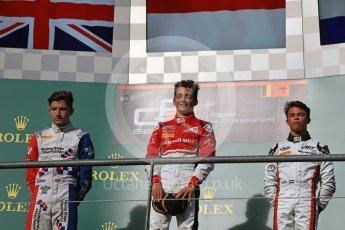 World © Octane Photographic Ltd. ART Grand Prix – GP3/16 – Charles Leclerc, Arden International – GP3/16 – Jake Dennis and Grand Prix – GP3/16 – Nyck de Vries. Saturday 27th August 2016, GP3 Race 1, Spa-Francorchamps, Belgium. Digital Ref : 1683LB1D0957