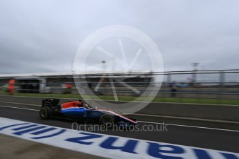 World © Octane Photographic Ltd. Manor Racing MRT05 - Pascal Wehrlein. Saturday 9th July 2016, F1 British GP Practice 3, Silverstone, UK. Digital Ref : 1625LB1D8372