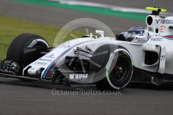World © Octane Photographic Ltd. Williams Martini Racing, Williams Mercedes FW38 – Valtteri Bottas. Friday 8th July 2016, F1 British GP Practice 1, Silverstone, UK. Digital Ref : 1619LB1D0870