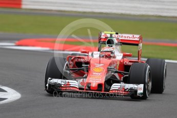 World © Octane Photographic Ltd. Scuderia Ferrari SF16-H – Kimi Raikkonen. Friday 8th July 2016, F1 British GP Practice 1, Silverstone, UK. Digital Ref : 1619LB1D0954