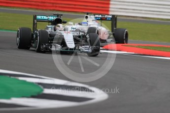 World © Octane Photographic Ltd. Mercedes AMG Petronas W07 Hybrid – Lewis Hamilton. Friday 8th July 2016, F1 British GP Practice 1, Silverstone, UK. Digital Ref : 1619LB1D1032
