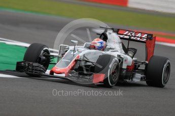 World © Octane Photographic Ltd. Haas F1 Team VF-16 – Romain Grosjean. Friday 8th July 2016, F1 British GP Practice 1, Silverstone, UK. Digital Ref : 1619LB1D1043