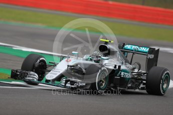 World © Octane Photographic Ltd. Mercedes AMG Petronas W07 Hybrid – Nico Rosberg. Friday 8th July 2016, F1 British GP Practice 1, Silverstone, UK. Digital Ref : 1619LB1D1078
