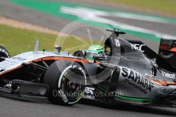 World © Octane Photographic Ltd. Sahara Force India VJM09 - Nico Hulkenberg. Friday 8th July 2016, F1 British GP Practice 1, Silverstone, UK. Digital Ref : 1619LB1D1092