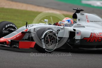 World © Octane Photographic Ltd. Haas F1 Team VF-16 – Romain Grosjean. Friday 8th July 2016, F1 British GP Practice 1, Silverstone, UK. Digital Ref : 1619LB1D1140
