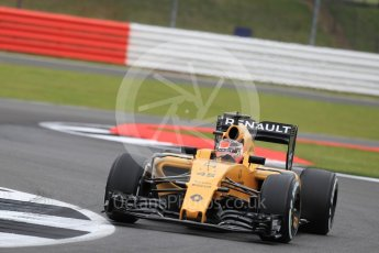 World © Octane Photographic Ltd. Renault Sport F1 Team RS16 Reserve Driver – Esteban Ocon. Friday 8th July 2016, F1 British GP Practice 1, Silverstone, UK. Digital Ref : 1619LB1D1161