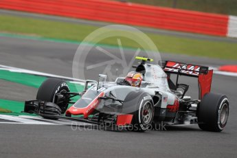 World © Octane Photographic Ltd. Haas F1 Team VF-16 Development driver - Santino Ferrucci. Friday 8th July 2016, F1 British GP Practice 1, Silverstone, UK. Digital Ref : 1619LB1D1195