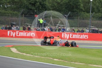 World © Octane Photographic Ltd. Red Bull Racing RB12 – Max Verstappen. Friday 8th July 2016, F1 British GP Practice 1, Silverstone, UK. Digital Ref : 1619LB1D1338
