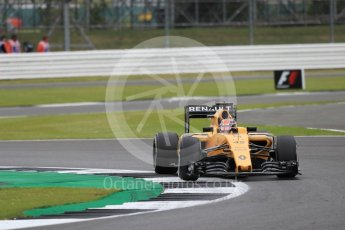 World © Octane Photographic Ltd. Renault Sport F1 Team RS16 Reserve Driver – Esteban Ocon. Friday 8th July 2016, F1 British GP Practice 1, Silverstone, UK. Digital Ref : 1619LB1D1522