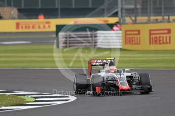 World © Octane Photographic Ltd. Haas F1 Team VF-16 Development driver - Santino Ferrucci. Friday 8th July 2016, F1 British GP Practice 1, Silverstone, UK. Digital Ref : 1619LB1D1536