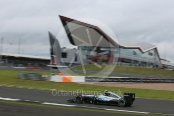 World © Octane Photographic Ltd. Mercedes AMG Petronas W07 Hybrid – Nico Rosberg. Friday 8th July 2016, F1 British GP Practice 1, Silverstone, UK. Digital Ref : 1619LB5D5403