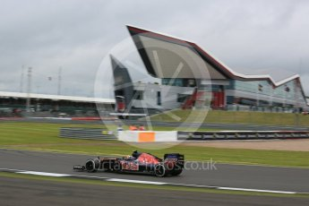 World © Octane Photographic Ltd. Scuderia Toro Rosso STR11 – Carlos Sainz. Friday 8th July 2016, F1 British GP Practice 1, Silverstone, UK. Digital Ref : 1619LB5D5465