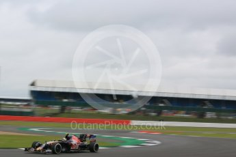World © Octane Photographic Ltd. Scuderia Toro Rosso STR11 – Carlos Sainz. Friday 8th July 2016, F1 British GP Practice 1, Silverstone, UK. Digital Ref : 1619LB5D5542